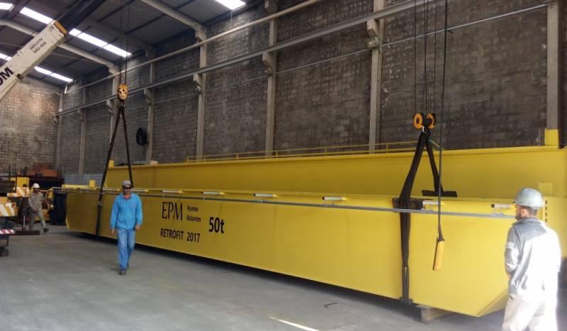 Montagem de Ponte Rolante em Indústria em Pedreira - Instalação de Ponte Rolante Automática