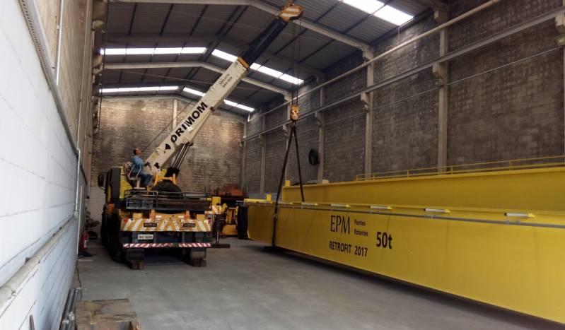 Serviço de Montagem de Ponte Rolante em Indústria Santo Antônio de Posse - Instalação de Ponte Rolante Industrial